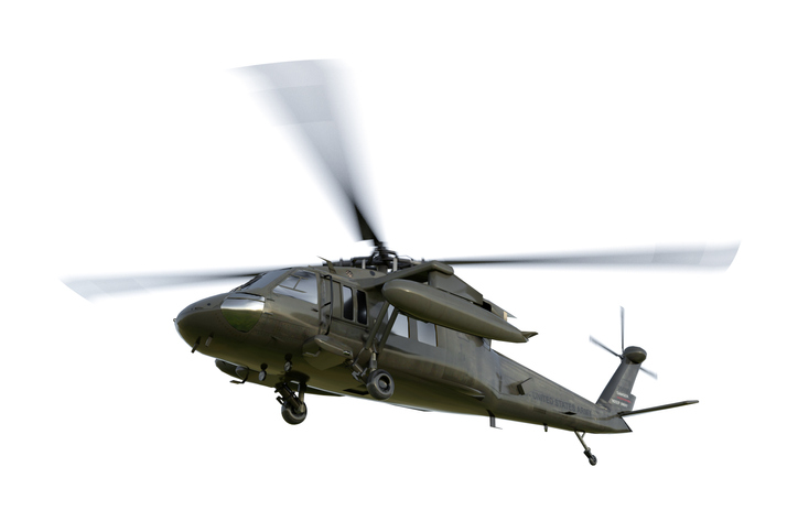 Military Helicopter Uh 60 Black Hawk Realistic 3d Render